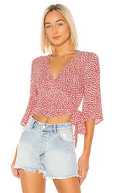 Tiny Bloom Wrap Top                     MINKPINK