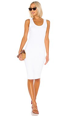 Rib Scoop Tank Midi Dress                     Enza Costa