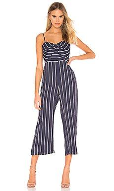 Layla Stripe Jumpsuit                     Bardot