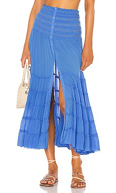 Foe Panelled Maxi Skirt                     Poupette St Barth
