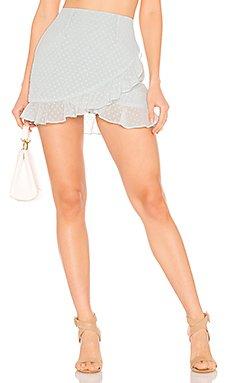 Camille Ruffle Frill Skirt                     superdown