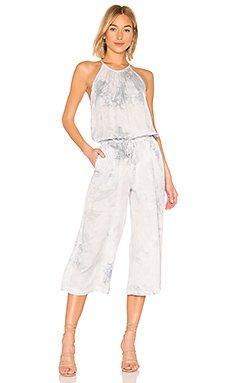 Pleated Wide Leg Crop Jumpsuit                     Bella Dahl