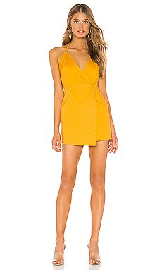 Eleanor Wrap Tie Dress                     superdown
