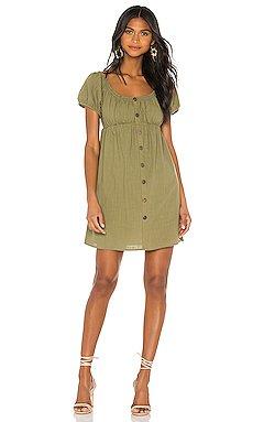 Linen Puff Mini Dress                     MINKPINK