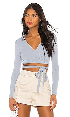 Sylvie Wrap Tie Top                     superdown