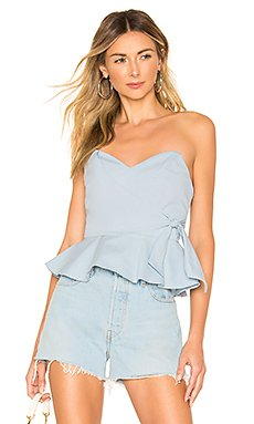 Carissa Peplum Tie Top                     superdown