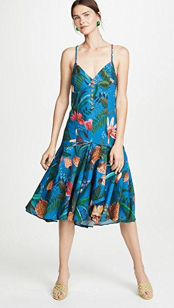 Blue Jungle Tube Dress