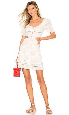 Lace Combo Cut Out Mini Dress                     JONATHAN SIMKHAI