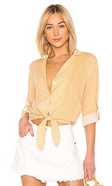 Eliza Stripe Tie Shirt                     MINKPINK