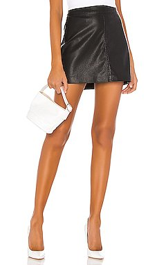 Vegan Leather Simple Mini Skirt                     BLANKNYC