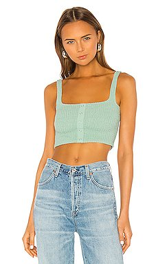 Millie Smocked Crop Top                     Capulet