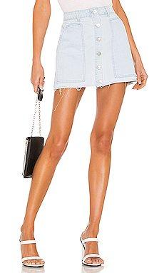Fashion Denim Mini Skirt                     KENDALL + KYLIE