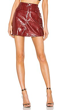 Logan Faux Leather Skirt                     I.AM.GIA