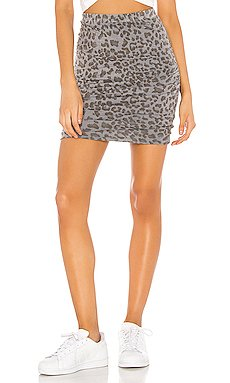Leopard Ruched Skirt                     SUNDRY