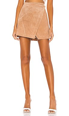 High Rise Suede Skirt                     BLANKNYC
