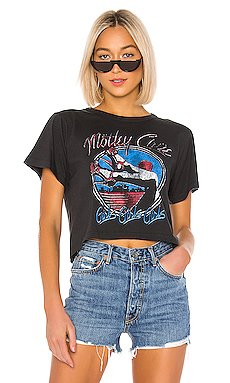 Motley Crue Girls Rebel Crop Tee                     DAYDREAMER