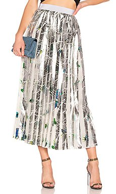 Floral Pleated Skirt                     MSGM