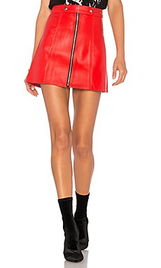 x REVOLVE High Waisted Zip Skirt                     Understated Leather