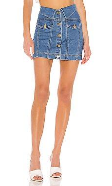 Shannon Denim Mini Skirt                     superdown