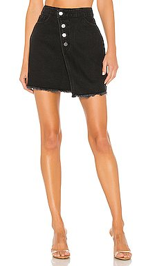 Yasmin Asymmetrical Denim Skirt                     superdown