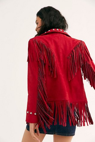 Watermelon Fringe Jacket