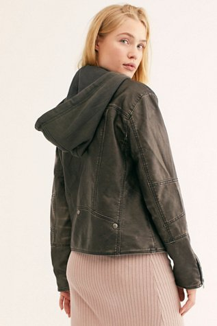 Just Friends Vegan Moto Jacket