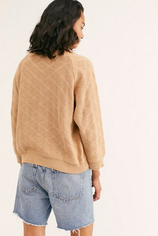 Long Sleeve Quilted Sweater