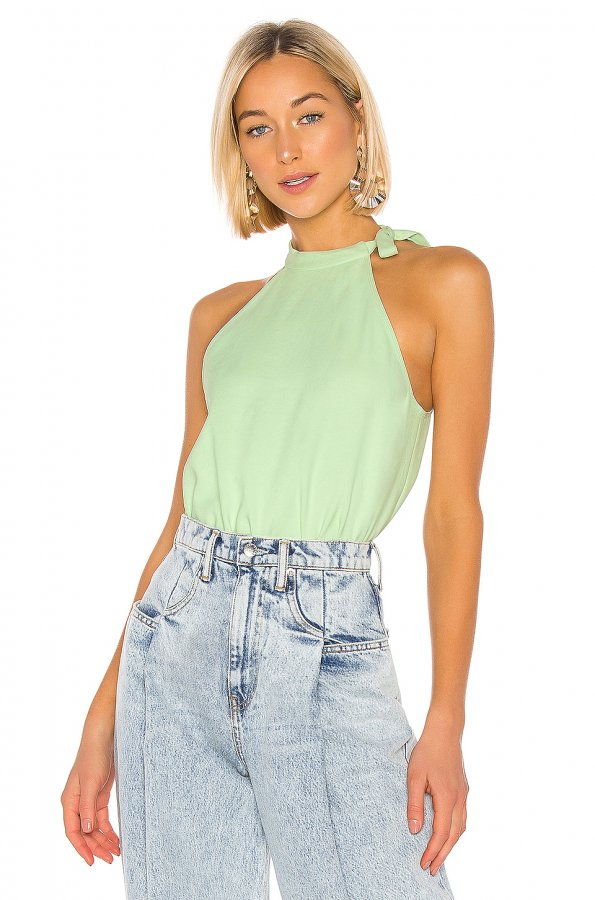 Chalky Drape Halter Top