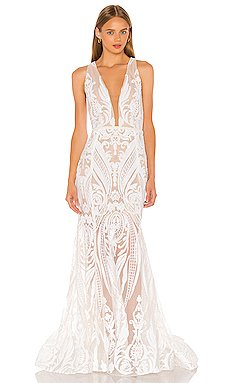 Ester V Neck Gown                     Bronx and Banco