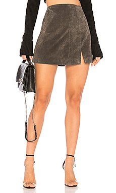 Suede Mini Skirt                     BLANKNYC