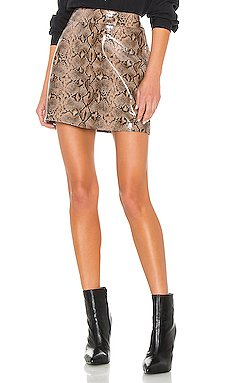 Anaconduh Vegan Leather Mini Skirt                     BLANKNYC