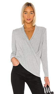 Cross Front Cozy Knit Top                     1. STATE