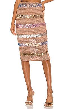 Mosaic Midi Skirt                     NBD