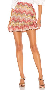 Zinnia Embroidered Mini Skirt                     NBD