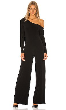 Long Sleeve Drop Shoulder Jumpsuit                     Norma Kamali