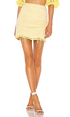 Picnic Mini Skirt                     For Love & Lemons