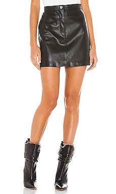 Keep Livin Vegan Leather Mini Skirt                     BB Dakota