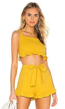 Camille Crop Frill Top                     MINKPINK