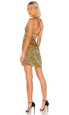 Backless Cowl Neck Mini Dress                     J.O.A.