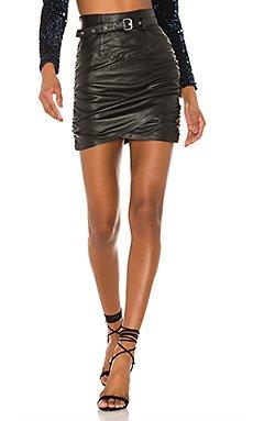 Cami Leather Skirt                     Camila Coelho