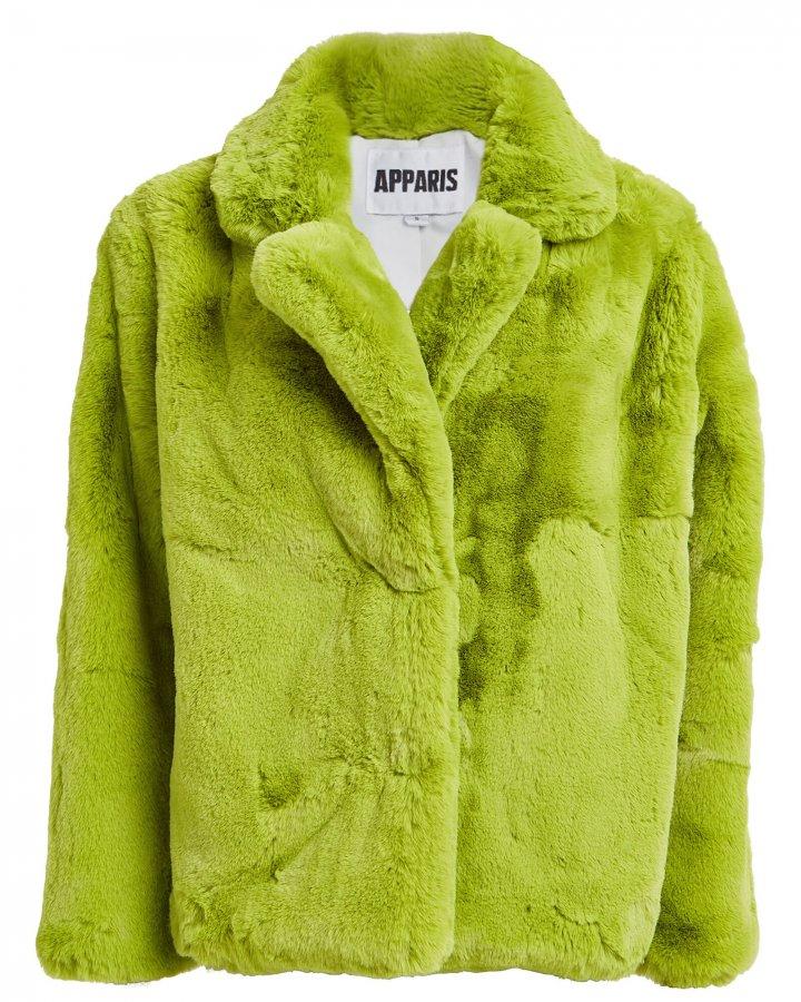 Manon Neon Faux Fur Coat