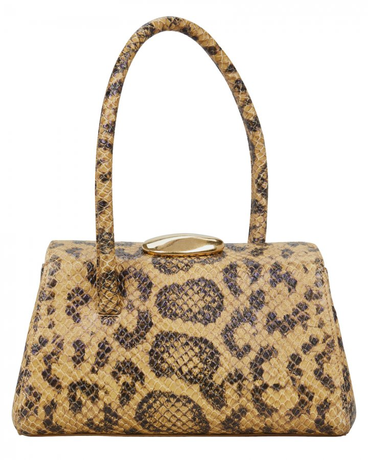 Baby Boss Snake-Embossed Leather Bag