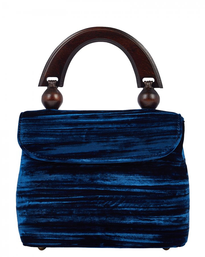 Fiona Crushed Velvet Clutch