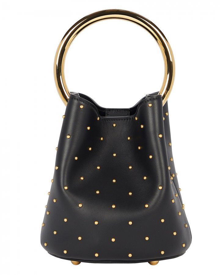 Studded Pannier Top Handle Bag