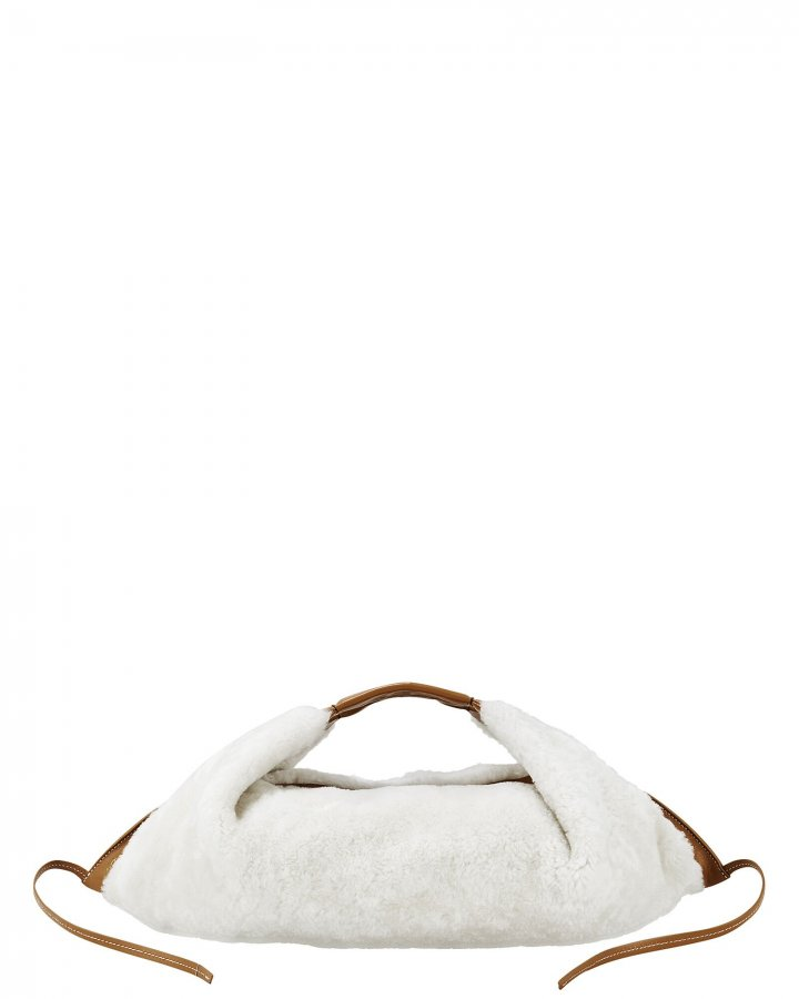 Luna Shearling Mini Hobo Tote