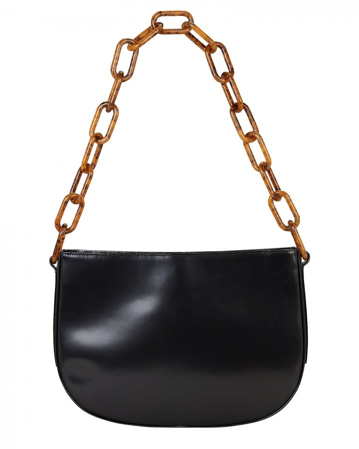Pelle Chain Leather Shoulder Bag