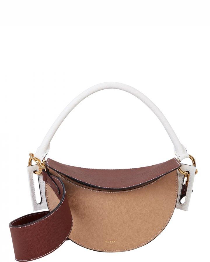 Brown Dip Colorblock Bag