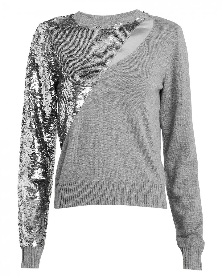 Teagan Sequin Cut-Out Sweater