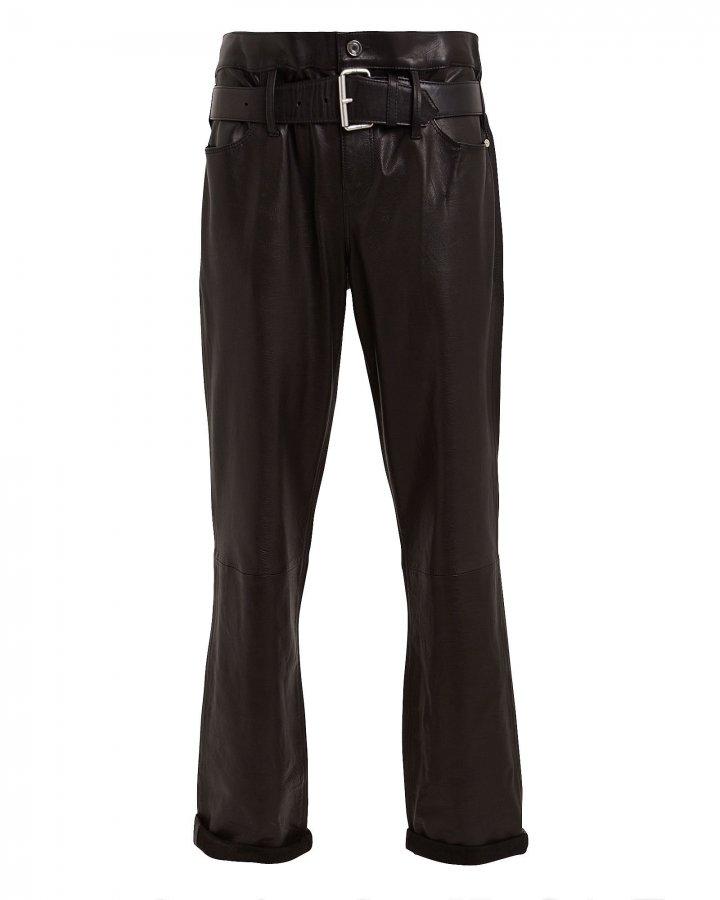 Dexter Straight Leg Leather Pants