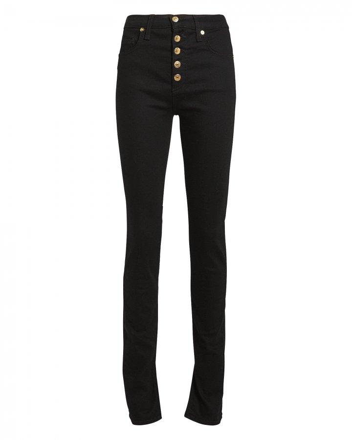 Debbie Skinny Slit Hem Jeans